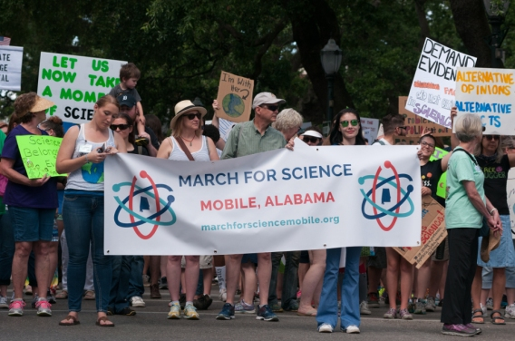 March for Science Mobile banner