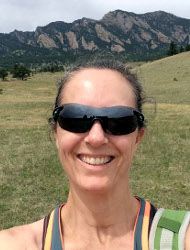 Photo of Ang Jordan on a hike in Colorado.